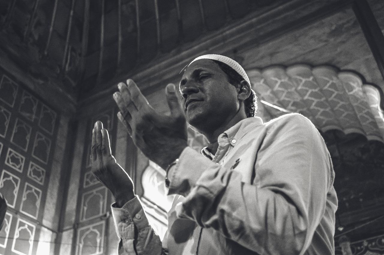Image of a man praying
